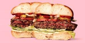 В вегетарианском гамбургере …