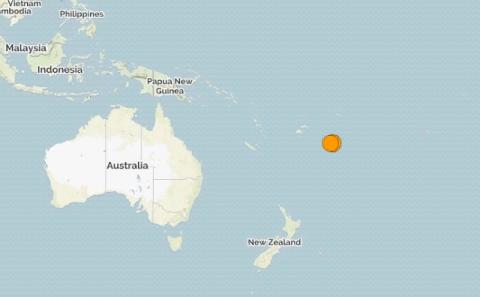 Тонга. Землетрясение магнитудой 6.4