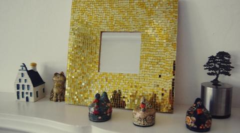 Как сделать мозаичное зеркал…