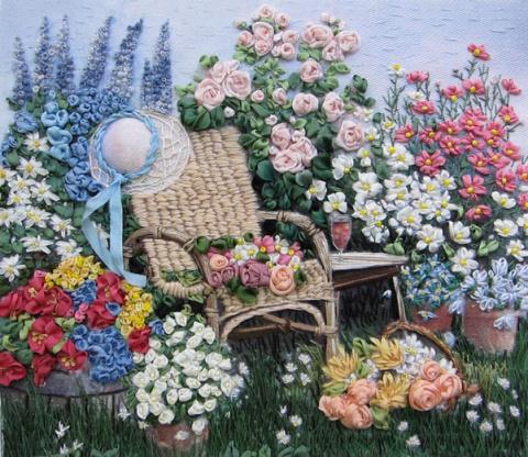 Шедевры вышивки — объемная вышивка Виктории Лобжиной
