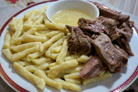 Вкуснейший Жижиг- галнаш (мясо-галушки)