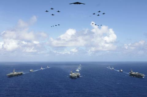 Ударная группа ВМС США идет к Ыну