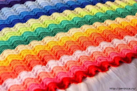 Как вязать разноцветные поло…