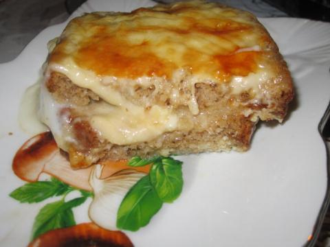 Хлебно - сырная запеканка