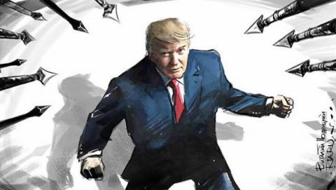 Шоу президента Трампа: уходя…