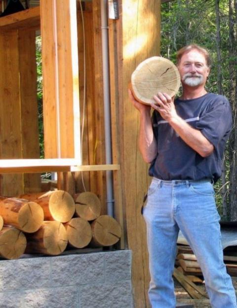 Пол из деревянных дисков - мировой тренд в дизайне