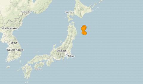 Япония. Землетрясение магнитудой 6.1