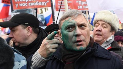 Касьянову плеснули зеленкой …