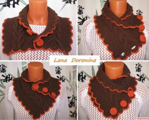 шарф с застежкой
