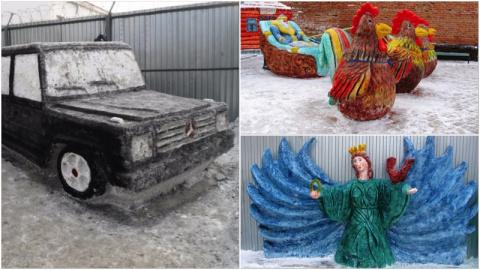 В российских колониях прошли конкурсы ледяных и снежных скульптур