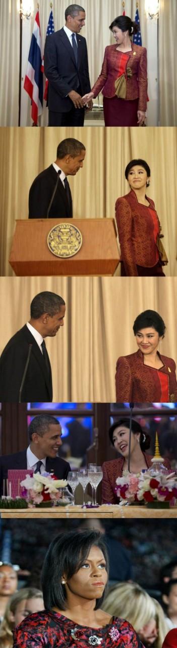 Встреча президента США и премьер-министра Таиланда. Язык жестов))))