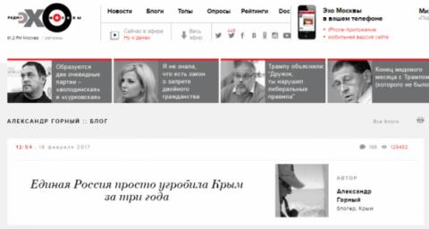 «Эхо Москвы» распускает лжив…