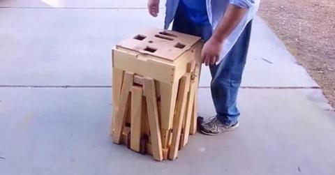 Это похоже на странную коробку, но когда он открыл его, моя челюсть отвисла!