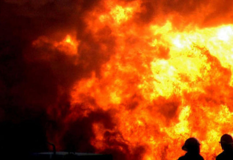 В Казани вспыхнул пожар на п…