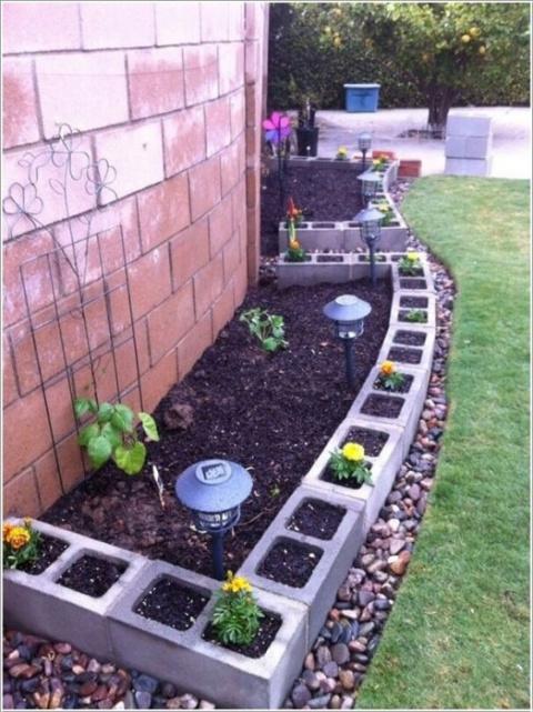 15 оригинальных поделок для садового участка из шлакоблоков