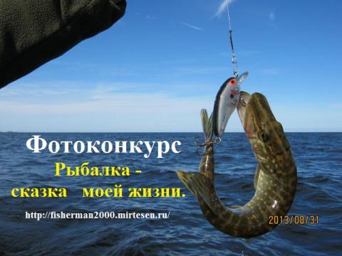1344. Фотоконкурс «Рыбалка - сказка моей жизни»