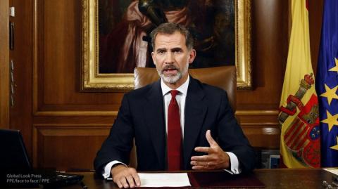 """Назвал Каталонию """"неотъемлемой частью"""" Испании король Филипп VI"""