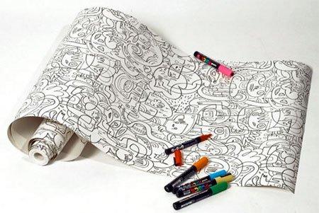Креативные обои-раскраски от…