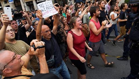 В Барселоне разогнали митинг…
