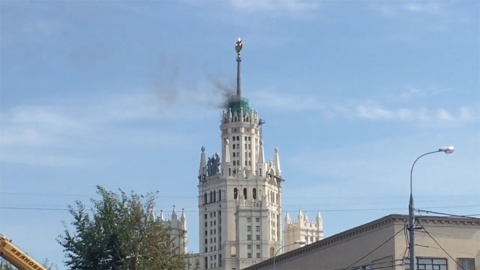 В центре Москвы горит сталин…