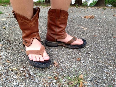 Ковбойские сандалии - новый …