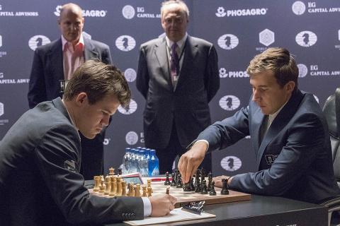 Третья партия матча за шахма…