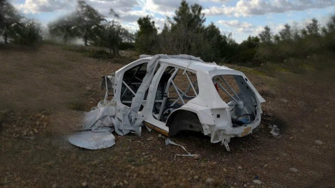 В Греции нашли угнанный раллийный автомобиль, точнее то, что от него осталось