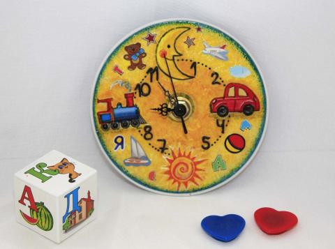Часы в детскую комнату из  CD-диска
