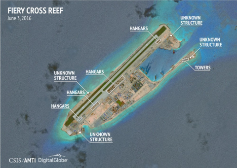 Военная инфраструктура КНР на архипелаге Спратли