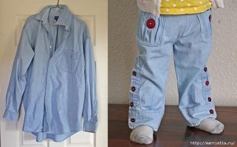 Из старой рубашки — новые мо…