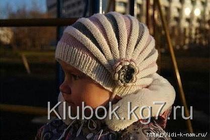 Вяжем шапочку для девочки