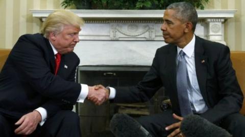 Трамп прокомментировал записку, оставленную ему Обамой в Белом доме