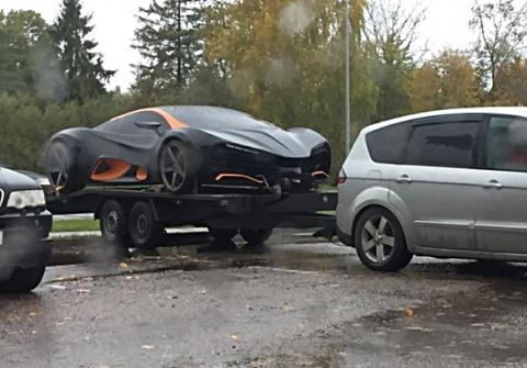 В Латвии сфотографировали первый украинский суперкар