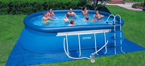 Как установить надувной бассейн на даче?