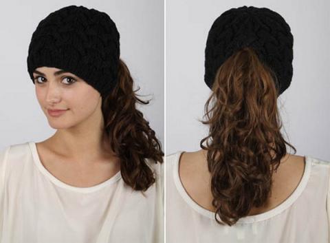 Вязанные женские шапки Fit to Flick: и ушки в тепле, и прическа в целости