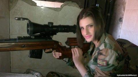 Девушка-снайпер сирийской ар…