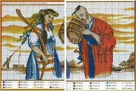 Вышивка крестом с украинскими мотивами