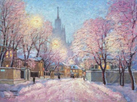 Москва зимой в картинах Игоря Разживина