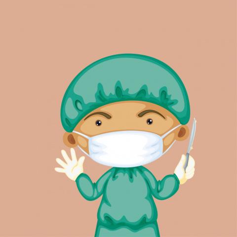 Усталый хирург выходит изоп…