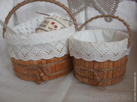 Изготовление корзинки для рукоделия