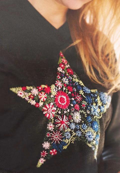Идея по оформлению одежды - Цветочная звезда