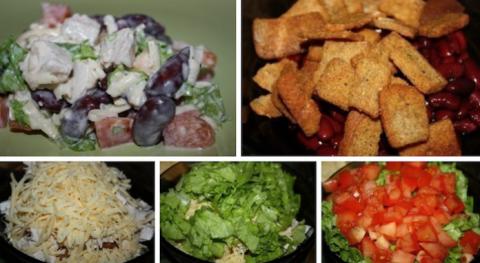 Салат с курицей и фасолью  —  твой ужин станет похож на королевский стол!