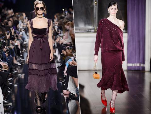 Модный комплект с вещами цвета бордо