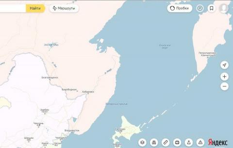 С «Яндекс.Карт» пропал Сахал…