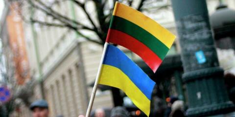 В Вильнюсе на акцию в поддер…