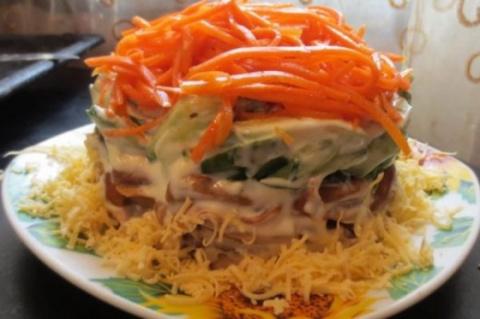 Низкокалорийный салат с коре…