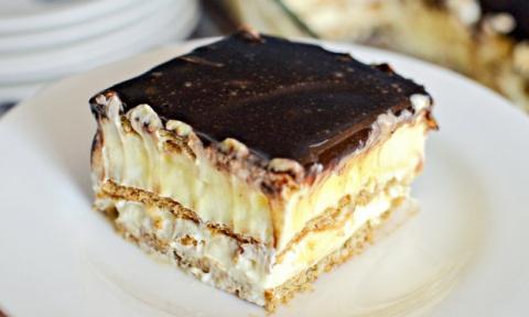 Нежнейший торт-эклер без выпечки