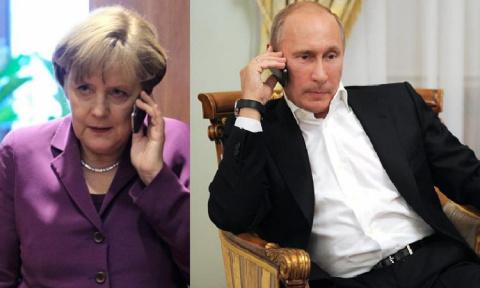 Путин и Меркель поговорили об Украине