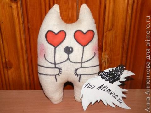 Текстильная игрушка Кот. Мастер-класс