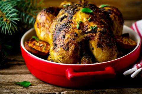 Новогодние рецепты: Запеченная курица с апельсинами